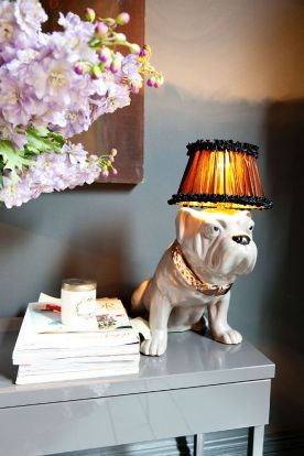 The bulldog lamp - one of Abigail's own creations