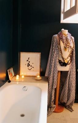 Bathroom, decorated mannequin