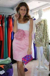 Michelle Torres in her showroom at home